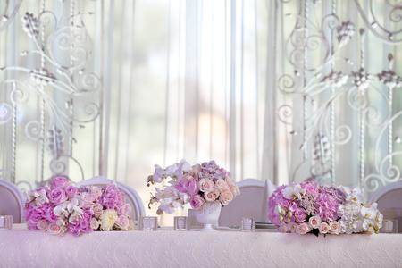 set up: Elegance table set up for wedding