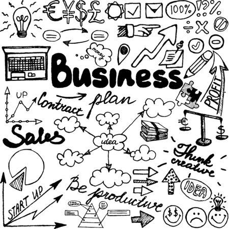 illustrate: Business Sketch Doodles Illustration