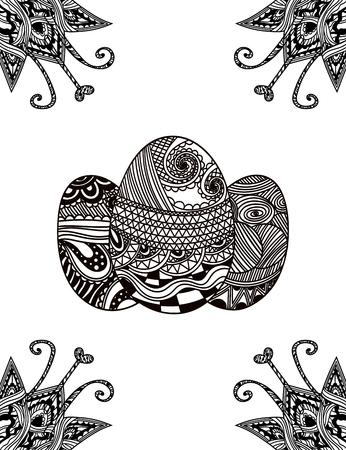 Vector Künstlerische Nahtlose Illustration Mit Einem Schwarz-Weiß ...