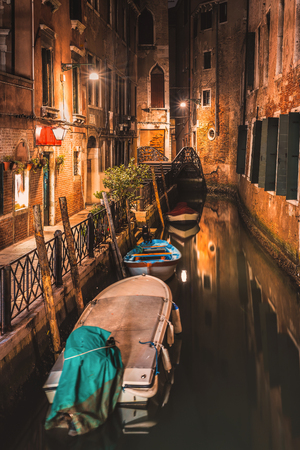 nightshot: One of the beautiful alley discovered on night walk through Venice