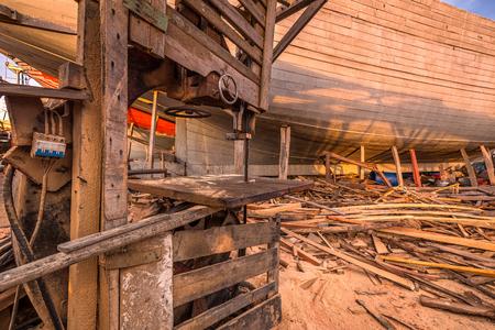 Arca de Noé en el puerto de Essaouira en Marruecos. Foto de archivo