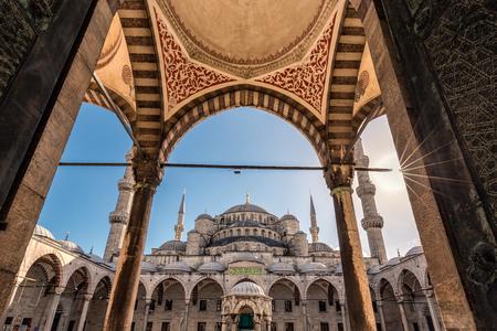 Die Blaue Moschee in Istanbul, Türkei. Sultanahmet Camii. Standard-Bild