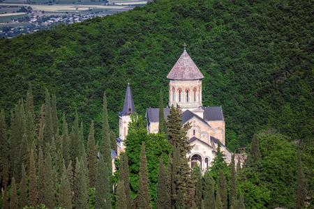Bodbe monastery saint nino monastery at bodbe it is a georgian orthodox monastic complex, Georgia. Stock Photo