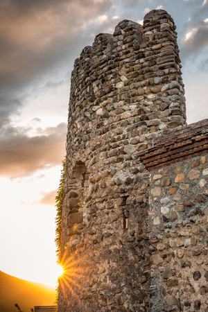 george: Old fortifications in sighnaghi the capital of the wine region Kakheti in Georgia caucasus Stock Photo