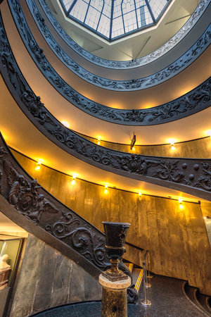 Famous spiral staircase in Vatican Rome, Italy.