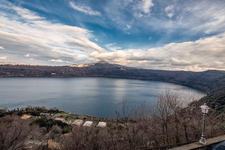 Lake at city of  Castel Gandolfo, Italy.
