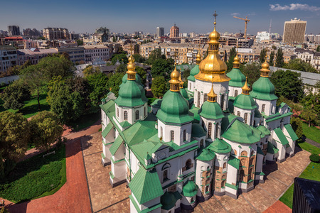 Arial view at Saint Sophias Cathedral Kiev, Ukraine.