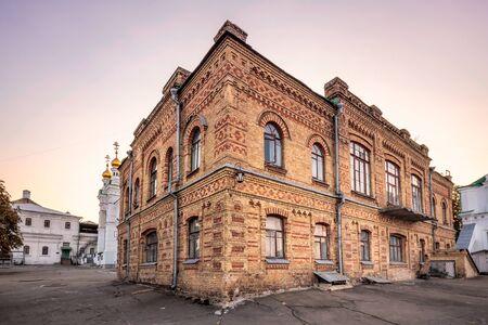 us Pechersk Lavra Monastery shot at sunset in Kiev, Ukraine. Stock Photo