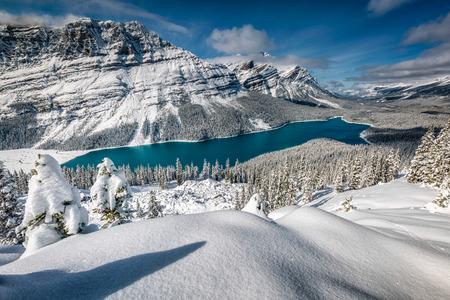Peyto Lake with reflection at Banff National Park, Canada.