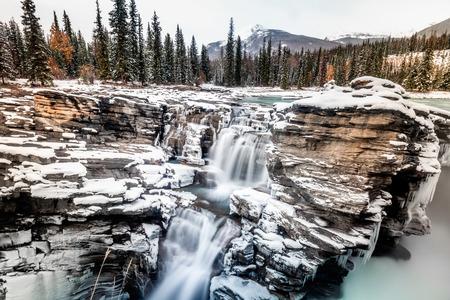 Athabasca Falls at Banff National Park, Canada. Banco de Imagens
