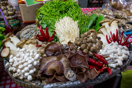 Exotic delicacies sell on the market in Thailand