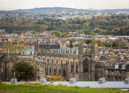 Beautiful view of the city from Calton Hill Stok Fotoğraf