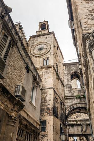 Beautiful old streets of Split, Croatia.