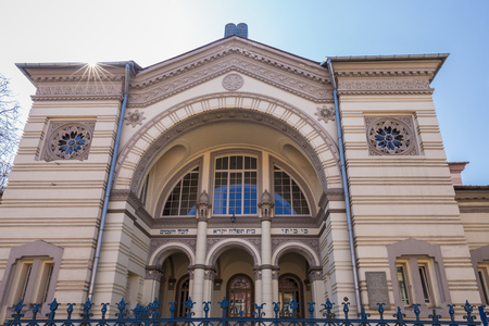 The Choral Synagogue of Vilnius is the only synagogue in Vilnius that is still in use. The other synagogues were destroyed partly during World War II .