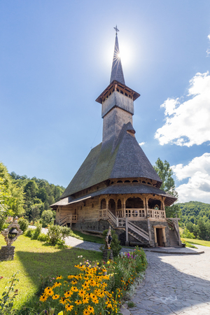 Wooden Churches of Maramure listed in Romania at sunny day