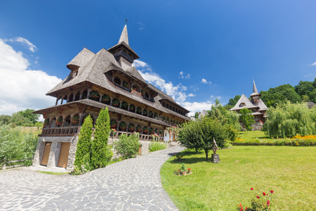 Wooden Churches of MaramureÈ™ listed  in Romania at sunny day