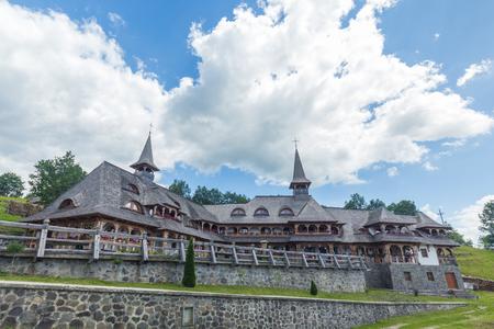 Wooden Churches of MaramureÈ™ in Romania at sunny day Reklamní fotografie