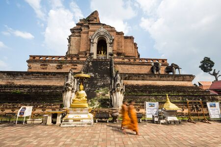 Chiang Mai, Thailand - October 30, 2017: The old buddhist temple at the sunny day in Thailand Stock Photo