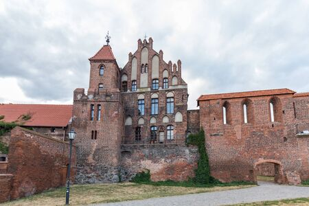 Warsaw, Poland - June 25 2018: View from the backyard of old and slightly ruined castle in Bydgoszcz is the eighth-largest city in Poland