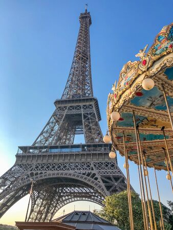 The Eiffel Tower is a metal tower in the center of Paris, its most recognizable architectural landmark. Named in honor of the chief designer Gustave Eiffel
