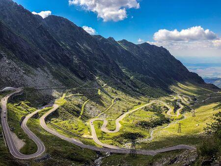 Sibiu, Rumänien - 05. Juli 2018: Transfagarasan Mountain Road, Rumänische Karpaten. Standard-Bild