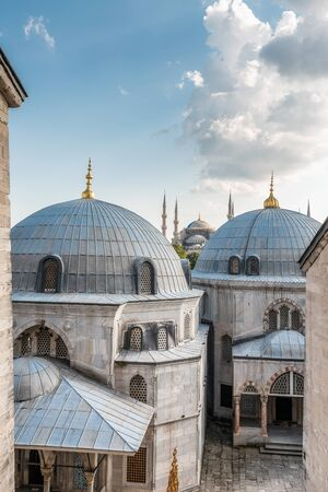 View from the window of Hagia Sophia upon The Blue Mosque at Istanbul, Turkey. Reklamní fotografie