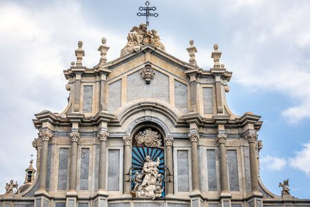 Piazza del Duomo with Cathedral of Santa Agatha in Catania, Sicily, Italy. Stock Photo - 130123208