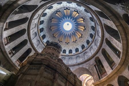 Jerusalem Israel - June 14, 2017: Church of the Holy Sepulchre in Jerusalem. Editorial