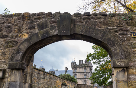Edinburgh, Scotland - October 10, 2017: Historical triumphal arch in Edinburgh - Scotland