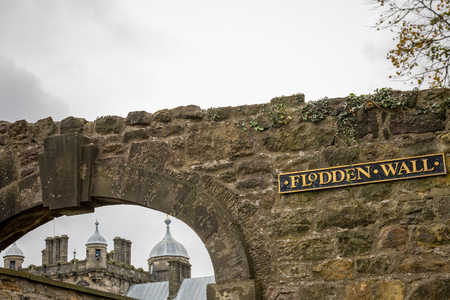Edinburgh, Scotland - October 10, 2017: Flodden wall. Edinburgh - Scotland