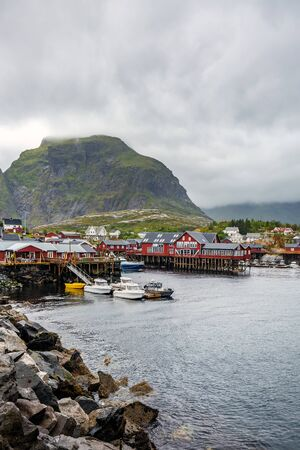 """Red houses at Ã… (meaning """"stream"""") is a village in Moskenes Municipality in Nordland county, Norway. This is last town on Lofoten islands by highway called King Olav's Road."""