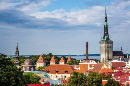 View of the roofs of the old town, Tallinn, Estonia