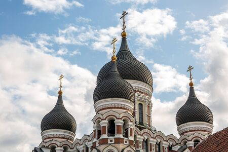 Morning View Of Alexander Nevsky Cathedral. Famous Orthodox Cathedral Is Tallinn's Largest And Grandest Orthodox Cupola Cathedral. Popular Landmark. Foto de archivo