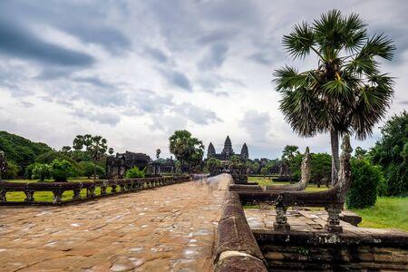 Entrance to Angkor Wat, Siem Reap, Cambodia.