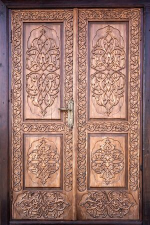 Door of a mosque in the city of Ivye was built in 1884. Architectural monument of Belarus.