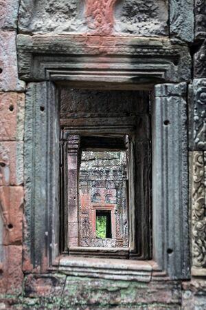 Doorwasy at the temple ruins at Angkor Wat, Siem Reap, Cambodia.