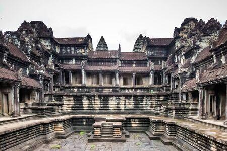Interior of Angkor Wat, Siem Reap, Cambodia.