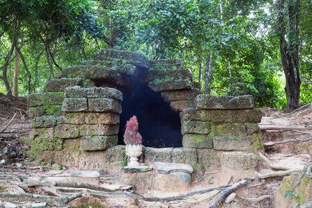 Neak Pean temple at Angkor Wat in Siem Reap, Cambodia in a summer day. 版權商用圖片