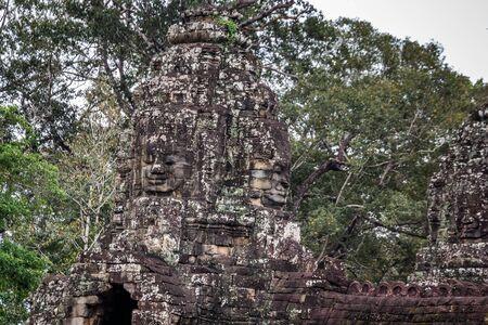 Old khmer temple ruins at Angkor Wat, Siem Reap, Cambodia.