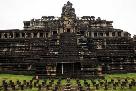 Temple ruins at Angkor Wat, Siem Reap, Cambodia.