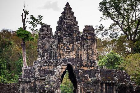 Old khmer temple at Angkor Wat, Siem Reap, Cambodia.