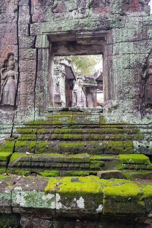 Stairs of the temple ruins at Angkor Wat, Siem Reap, Cambodia.