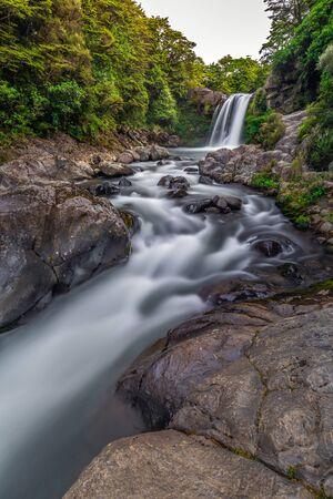 Tawhai Falls near Tongariro Alpine Crossing, New Zealand. Stok Fotoğraf