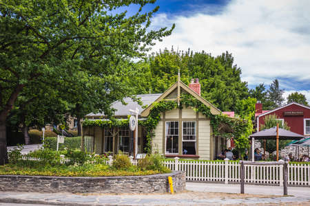 Old houses at historic city of Arrowtown, New Zealand. Arrowtown, New Zealand - December 23 2017.