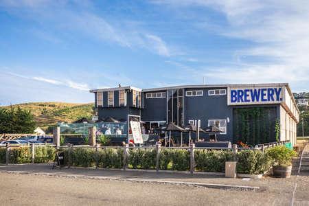Brewery building in small town Oamaru on South island, New Zealand. Oamaru, New Zealand - December 20 2017.