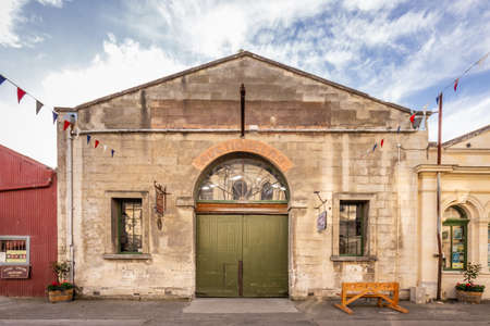 Old building at Oamaru in the South Island of New Zealand. Omaru is home to the steam punk. Oamaru, New Zealand - December 20 2017.
