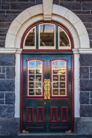 Historic Dunedin building at South island of New Zealand. Dunedin, New Zealand - December 20 2017.