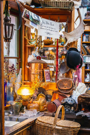 Local shop at the local market. Oamaru, New Zealand - January 07 2018.