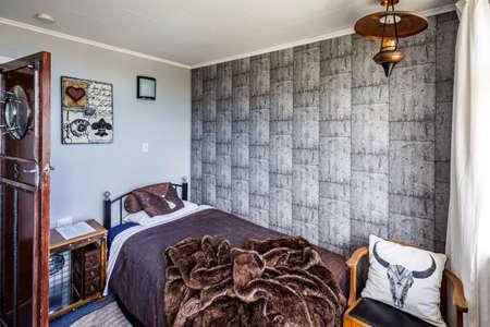Decorated hotel rooms. Oamaru, New Zealand - January 06 2018.