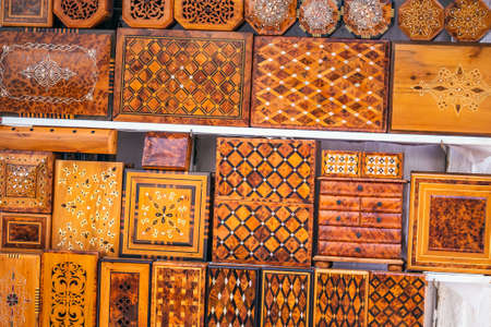 Backgammon in the market of Essaouira, Morocco.